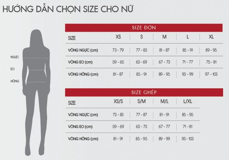 size quần lót nữ